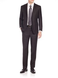 Canali Solid Wool Suit Black