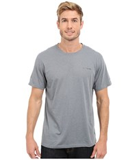 Columbia Silver Ridge Zero Short Sleeve Shirt Grey Ash Heather Men's T Shirt Gray