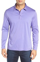Bugatchi Men's Classic Fit Solid Polo Orchid