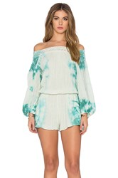 Jens Pirate Booty Sunkissed Romper Turquoise