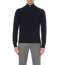 Corneliani Merino Wool And Cashmere Blend Jumper Navy
