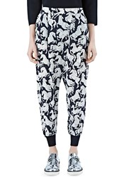Stella Mccartney Joey Horse Print Pants Black