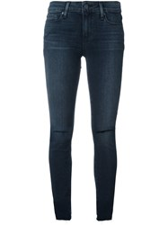 Paige 'Kalea' Distressed Skinny Jeans Blue