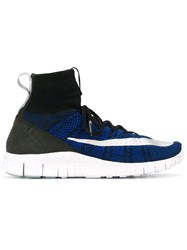 Nike 'Air Footscape Magista Flyknit Deep Royal' Hi Top Trainers Blue
