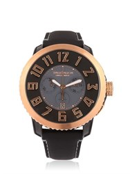 Tendence Chr Steel Black And Rose Gold Watch