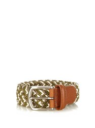 Andersons Woven Elasticated Belt Khaki Multi