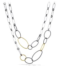 Mobile Link Necklace With Gold David Yurman Red