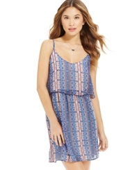 Speechless Juniors' Printed Popover Dress