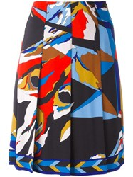 Emilio Pucci Printed Pleated Skirt