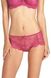 Panache Women's Lingerie 'Andorra' Lace Hipster Briefs Magenta