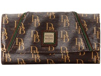 Dooney And Bourke Sutton Harper Wallet Brown Tmoro W Cs Trim Wallet