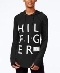 Tommy Hilfiger Logo Hoodie Only At Macy's Black