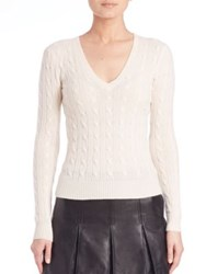 Polo Ralph Lauren Cable Knit Cashmere Sweater Cream