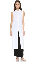 Dkny Button Thru Tunic White