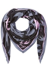 Mcq By Alexander Mcqueen Printed Scarf Blue