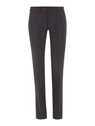 Peter Werth Kurt N.1 Cut Flat Fronted Flannel Trousers Charcoal
