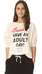 Wildfox Couture Adult Day Sweater Vanilla Latte