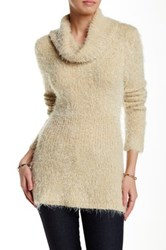 Chaudry Long Sleeve Turtleneck Sweater White