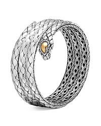 John Hardy 18K Yellow Gold And Sterling Silver Legends Cobra Triple Coil Bracelet Silver Gold