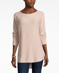 Charter Club Cashmere High Low Sweater Only At Macy's Blush Heather