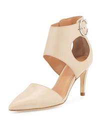 Sigerson Morrison Season Leather Pointed Toe Pump Beige