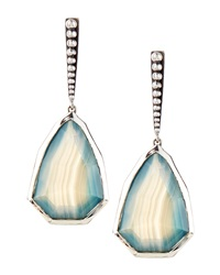 Stephen Dweck Small Blue Green Agate Drop Earrings