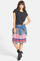 Ace Delivery Pleat Skirt Black
