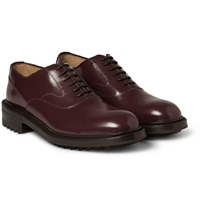 Valentino High Shine Leather Derby Shoes