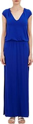 Barneys New York Peasant Maxi Dress Blue