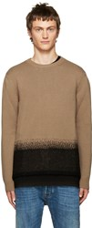 Valentino Camel Felted Wool Sweater