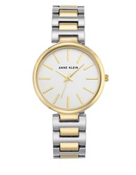 Anne Klein Stainless Steel And Two Tone Mixed Metal Bracelet Watch Ak2787svtt