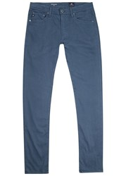 Ag Jeans The Stockton Blue Stretch Cotton Chinos