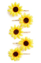 Topshop Sunflower Hair Clips Pack Of 5