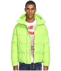 Dsquared Hooded Puff Bomber Lime Men's Coat Green