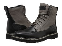 Timberland Britton Hill Boot Black Full Grain Wax Canvas Men's Lace Up Boots