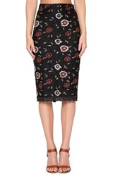Willow And Clay Women's Embroidered Floral Lace Pencil Skirt