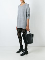 Antonio Marras Floral Lace Leggings Black