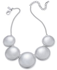 Inc International Concepts Silver Tone Circle Collar Necklace Only At Macy's