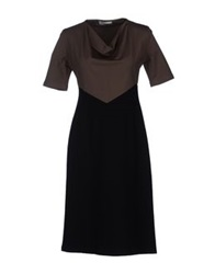 Lou Lou London Knee Length Dresses Dark Brown