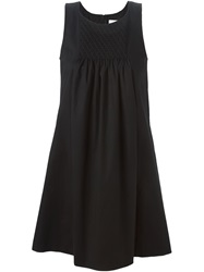 Mauro Grifoni Ruched Panel Swing Dress Black