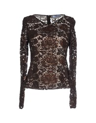 Blumarine Shirts Blouses Women Dark Brown