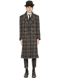 Thom Browne Plaid Wool And Mohair Boucle Coat