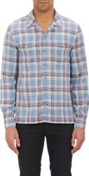 Shipley And Halmos Plaid Flannel Shirt Blue
