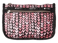 Le Sport Sac Everyday Cosmetic Case Painted Hearts Pink Cosmetic Case