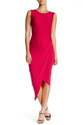 Astr Side Knot Bodycon Dress Red