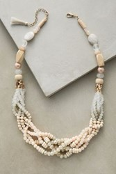 Anthropologie Anini Braid Necklace Gold