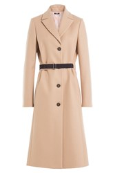 Jil Sander Navy Wool Coat With Cashmere Camel