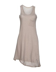 Gold Case Sogno Short Dresses Light Grey