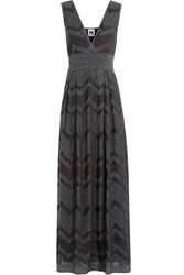 M Missoni Metallic Knit Maxi Dress Green