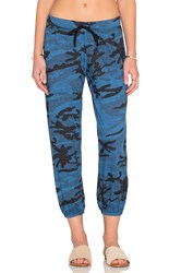 Nation Ltd. Medora Camo Capri Sweatpant Blue